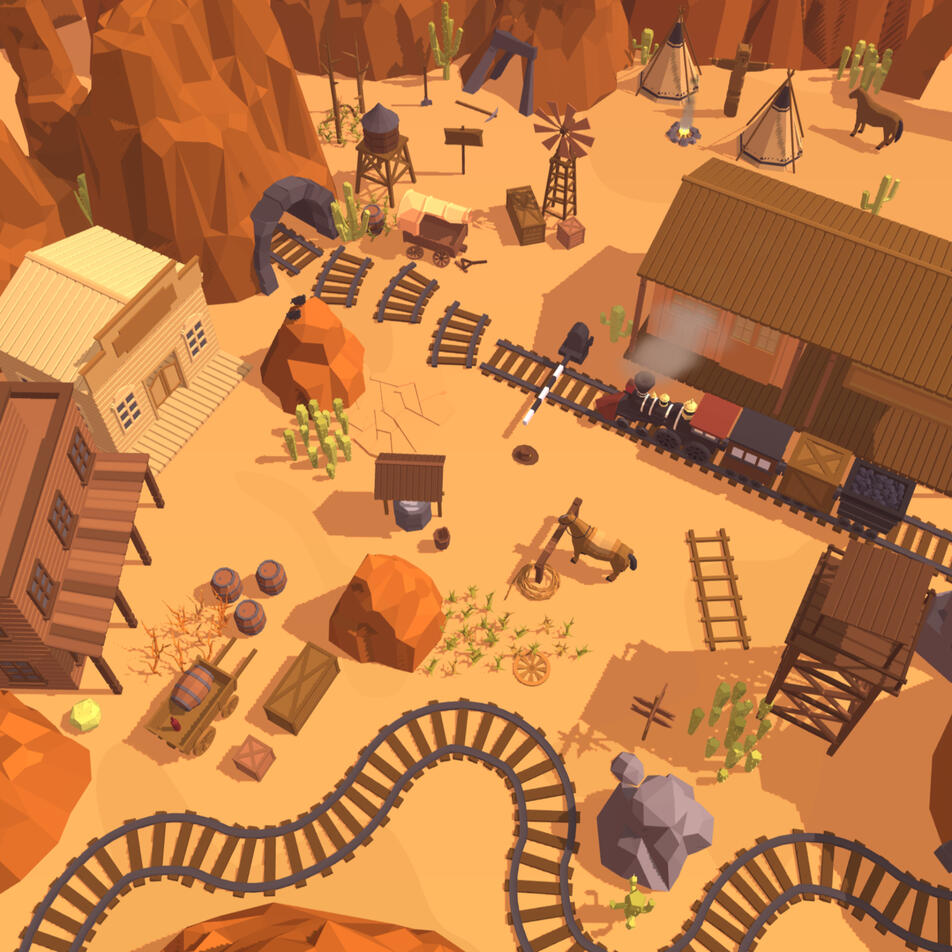 Railway Canyon - A Wild West puzzle game up for Pre-Order